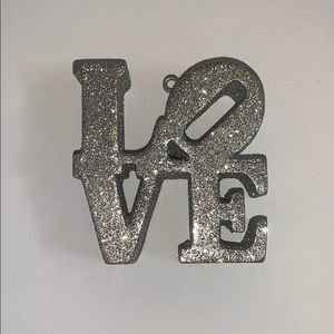 Sliver glitter Love decor sign